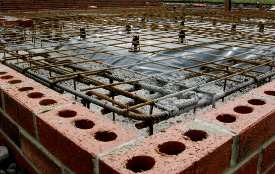 Reinforced Raft Foundation Slab Contractor